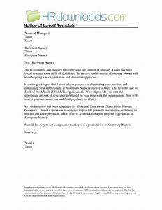 Sample Layoff Letter Sample Layoff Letter