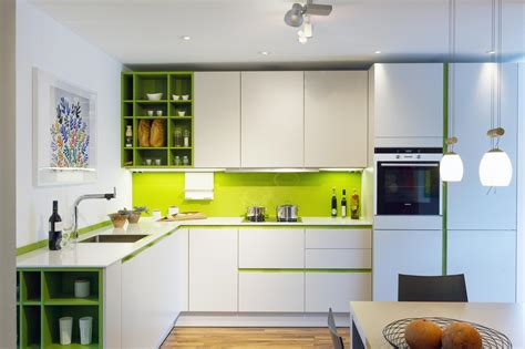 Modern House With Touch Of Pop In Alsace by Contemporary Kitchen Design Kitchens With A Pop Of Color
