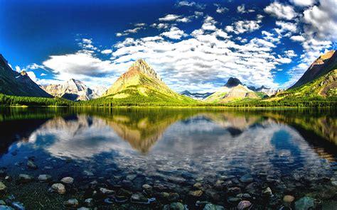 glacier national park montana beautiful landscape craggy
