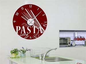Wanduhr Für Küche : wandtattoo uhr pasta wanduhr mit nudelsorten ~ Markanthonyermac.com Haus und Dekorationen