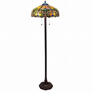 adesso walden 61 in h natural floor lamp 4089 12 the With tiffany style baroque floor bridge lamp