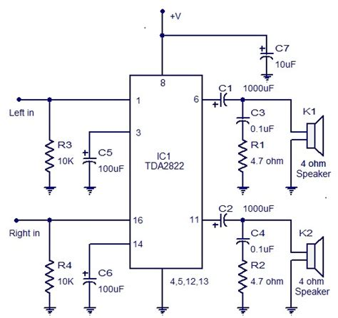 Designing Stereo Amplifier Circuit Using Tda Its