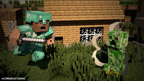 Minecraft Animation Wallpaper - minecraft animated slaying creepers by mcprod on deviantart