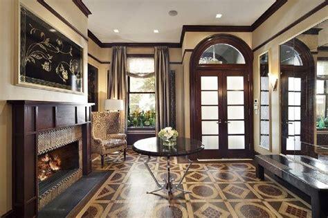 stunning entryway  dark brown wooden contemporary
