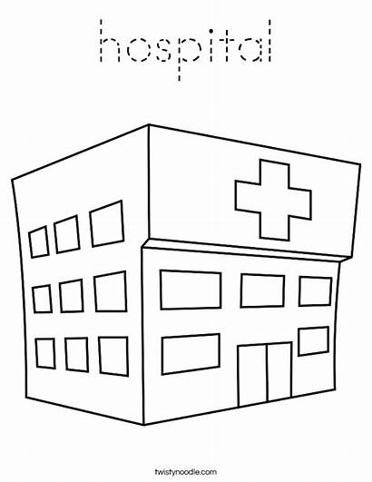 Hospital Coloring Pages Twistynoodle Paper Apartment Ambulance