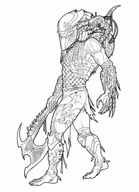 alien  predator coloring pages   printable