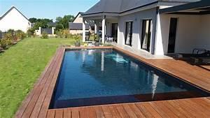 Piscine Avec Terrasse Bois : piscines de particuliers ~ Nature-et-papiers.com Idées de Décoration