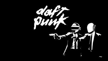Daft Punk, Pulp Fiction, typography, artwork, music ...