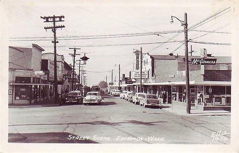vintage photographs edmonds wa late  street scene