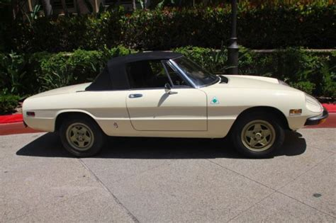 1982 Alfa Spider With Hardtop For Sale