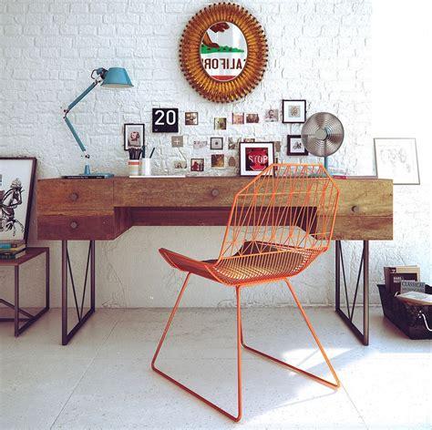 chaise de bureau vintage retro workspace decor interior design ideas