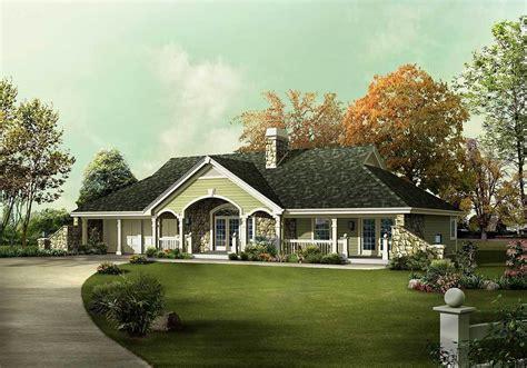 unique country ranch home plan ha architectural designs house plans