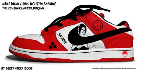 Nike Dunk Low Uchiha Sasuke By Dertyharry On Deviantart
