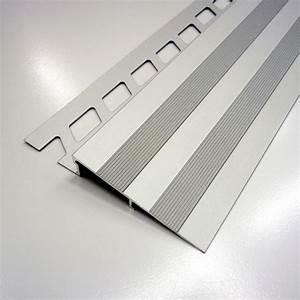 rampe d39acces sol aluminium anodise l25 m x ep10 mm With porte d entrée alu avec chaise salle de bain pour handicapé