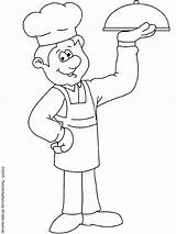 Chef Coloring Pages Colouring Jobs sketch template