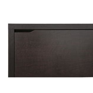 baxton studio simms dark brown modern shoe cabinet