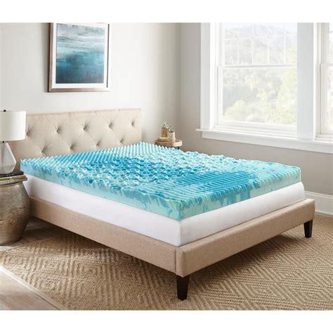 gel memory foam mattress topper 4 in gellux gel memory foam mattress topper