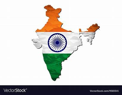 Flag India Map Vector Scrap Royalty Plastic
