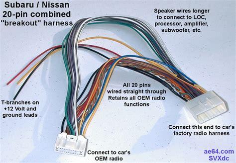 subaru radio wiring harness adapter 35 wiring diagram