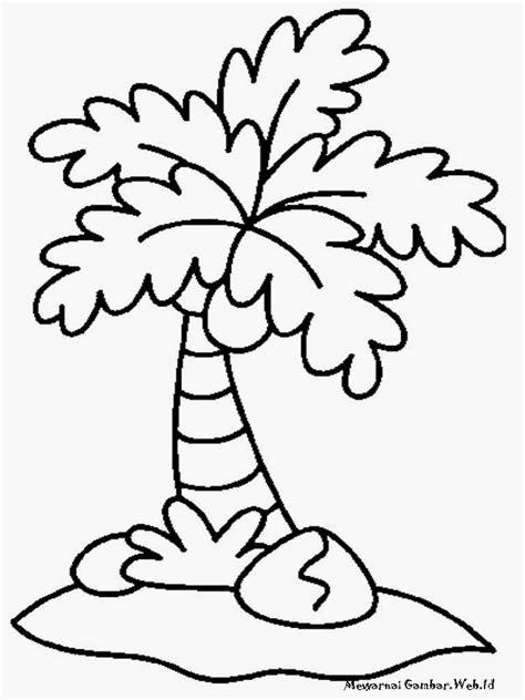 gambar kartun mewarnai pohon bestkartun
