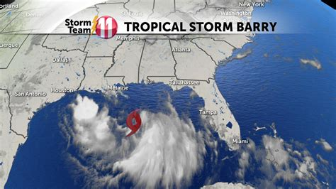 Tropical Storm Barry forms in the Gulf of Mexico; could ...