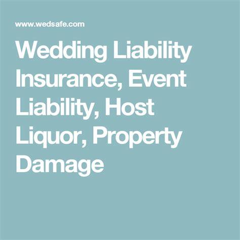 wedding liability insurance event liability host liquor