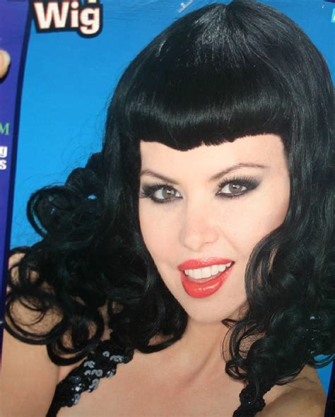 1950s Hairstyles With Bangs by Bettie Page Hairstyle Bangs 1950s Pin Up Wig