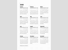 2020 Printable Calendar 4 stlnme