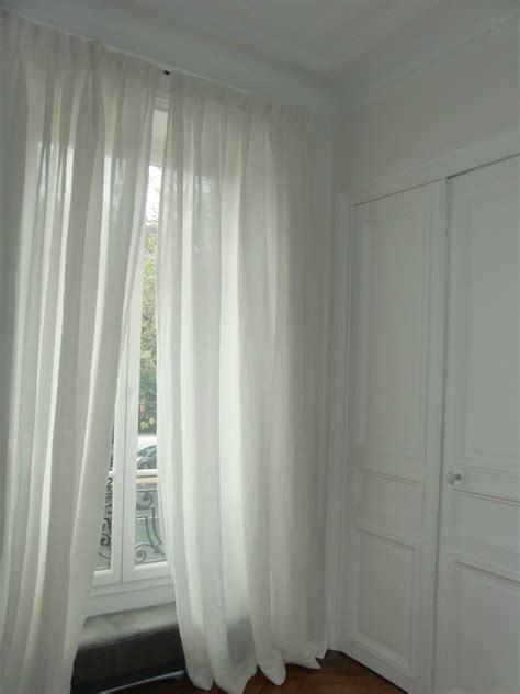 voilages en voile de photo de les rideaux blanche l a fait