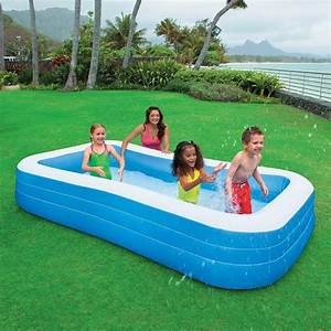 Piscine Hors Sol Rectangulaire Intex : piscine gonflable family rectangle intex achat vente chez irrijardin ~ Melissatoandfro.com Idées de Décoration