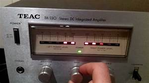 Testing A Teac Bx-330 Stereo Amplifier