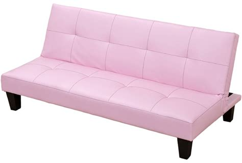 faux leather junior sofa bed in black brown or pink