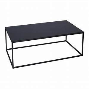 Buy black glass and metal rectangular coffee table from for Black glass rectangular coffee table