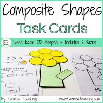 composite shapes task cards lets play  shapes