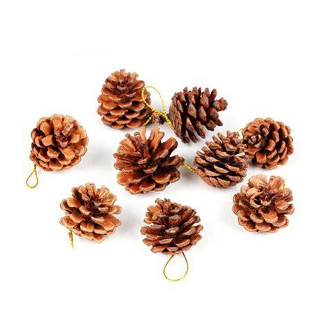 9pcs christmas tree hanging decorative pine cones pinecone