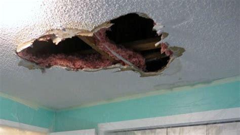 repair  hole   ceiling drywall diy home