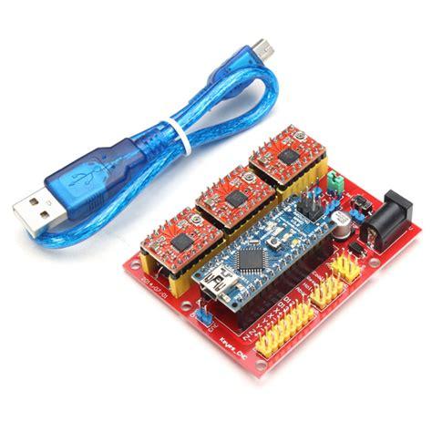 cnc grbl shield v4 con arduino nano y driver a4988