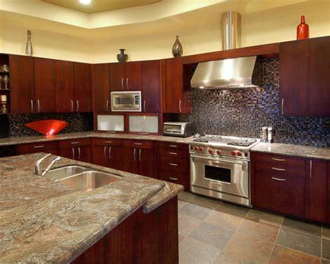 kitchens  cherry wood cabinets houzz