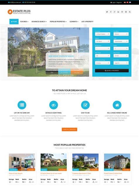 Real Estate Website Templates 80 Best Real Estate Website Templates Free Premium