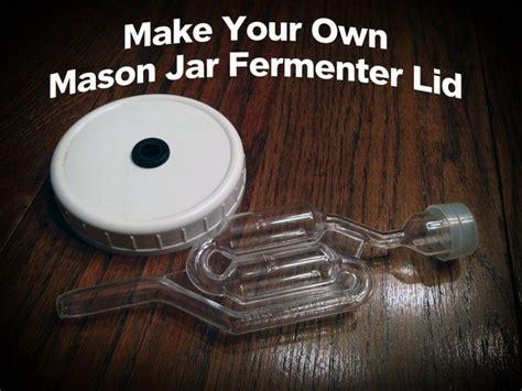 mason jar airlock lid fermenting jars