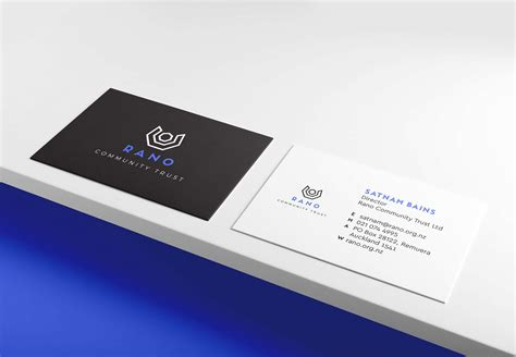 business cards auckland rano community trust white rabbit