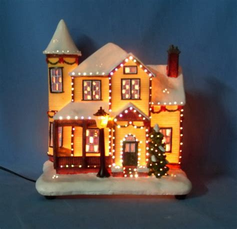 china 9 quot fiber optic house 11017 china fiber optic christmas house led christmas house