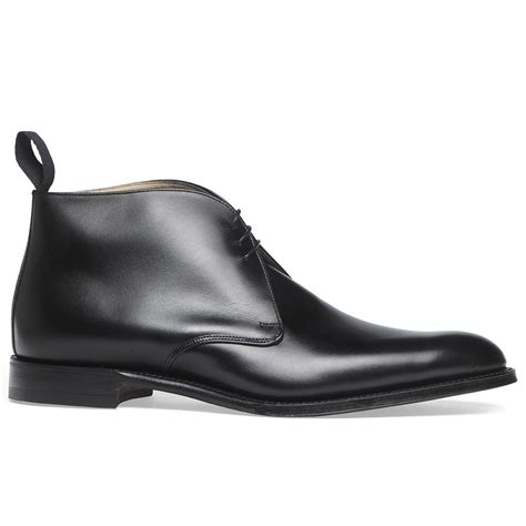 cheaney shadwell s black leather chukka boot made in