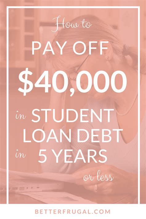 How To Create A Plan To Pay Debt The Budget How To Pay 40k In Student Loan Debt In 5 Years Or Less