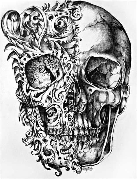 Awesome Skull Tattoo Tattoos Pinterest Design