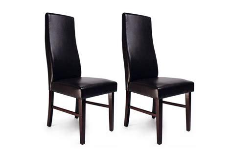 chaises de cuisine en bois chaise de cuisine salle à manger bois wengé jagoda lot