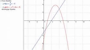 Funktionen Berechnen : funktionen berechnen von schnittpunkten einer parabel y x 2 6x 5 mit gerade die durch a und b ~ Themetempest.com Abrechnung