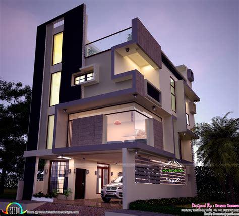 decorating ideas bathroom 30x40 contemporary three storied home kerala design and
