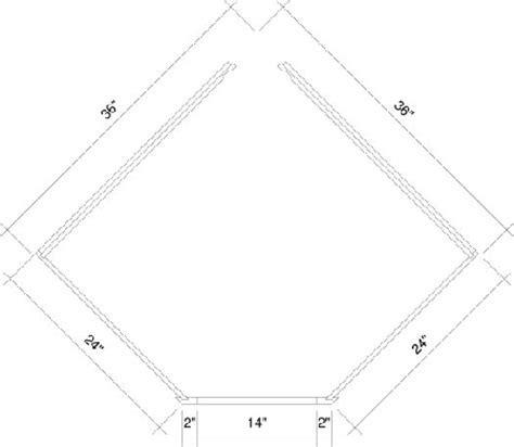 "DSB36 Diagonal Corner Sink Base Cabinet 36"" Wide x 24"