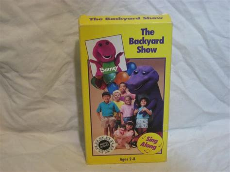 Barney And The Backyard Vhs by Barney The Backyard Show Vhs 1988 Backyards Kid